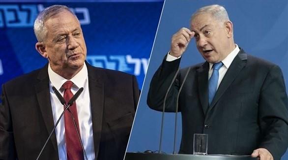 رئيس حزب الليكود بنيامين نتانياهو ومنافسه رئيس تحالف أزرق أبيض بيني غانتس (أرشيف)