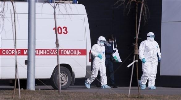 طاقم صحي روسي لمواجهة كورونا (أرشيف)