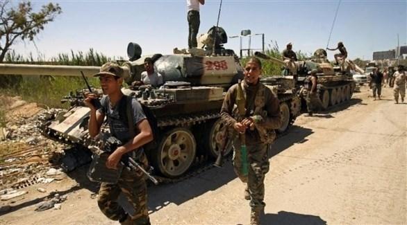 عناصر من قوات المسلحة في ليبيا (أرشيف)