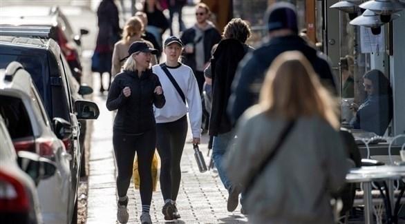 لقطة من أحد شوارع استوكهولم في نهاية إبريل الماضي (أرشيف)
