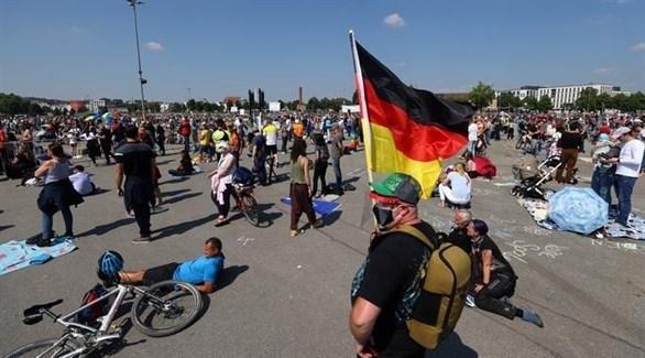 مظاهرات في ألمانيا ضد قيود كورونا (أرشيف)