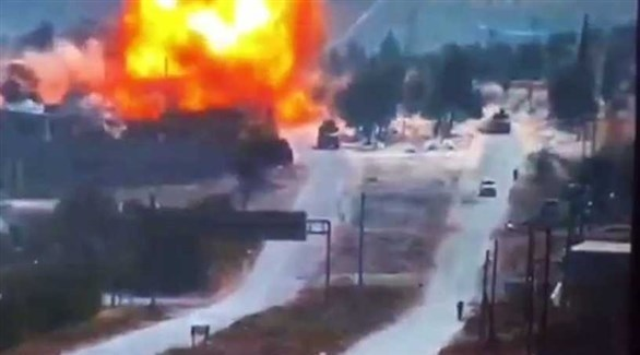 لحظة وقوع الانفجار قرب إحدى عربات الدورية (أرشيف)