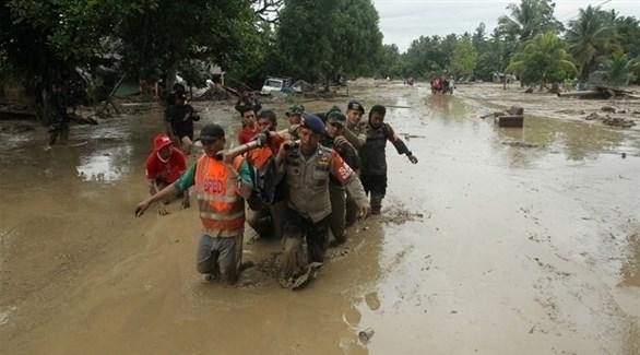 اتفاع حصيلة ضحايا فيضانات إندونيسيا والعشرات في عداد المفقودين (تويتر)