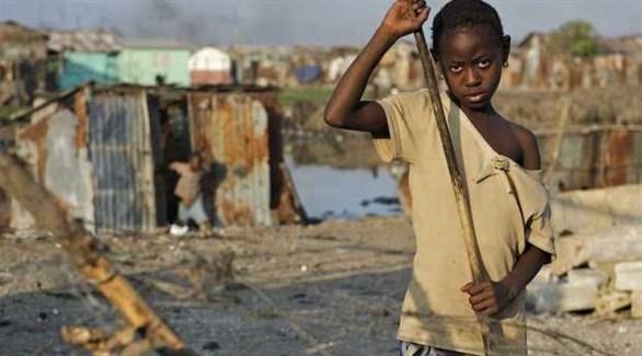 طفل في حي قصديري بهاييتي (أرشيف)