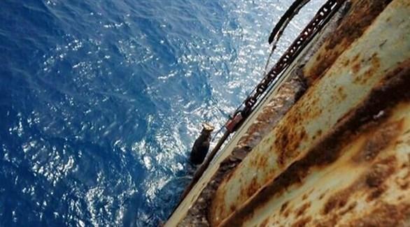 سفينة متهالكة في البحر (أرشيف)
