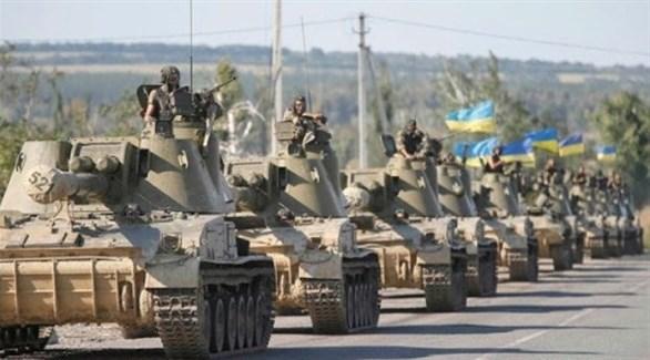 جيش أوكراني خلال مناورات (أرشيف)