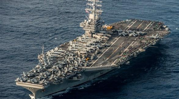 حاملة الطائرات الأمريكية يو إس إس رونالد ريغان (أرشيف)