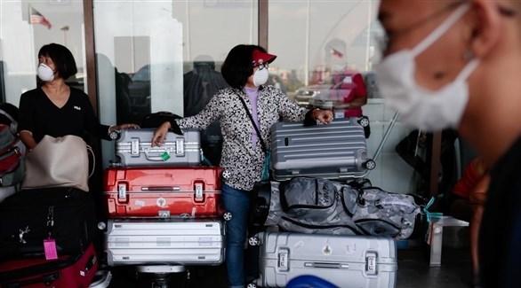 فلبينيون عالقون في أحد المطارات مع فرض قيود السفر بسبب كورونا(أرشيف)