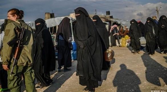 داعشيات في مخيم الهول (ارشيف)