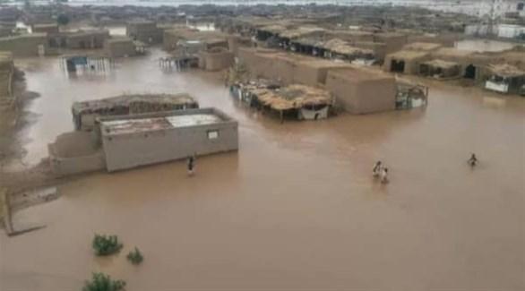 غرق مئات المنازل بعد انهيار سد بوط بالسودان (تويتر)