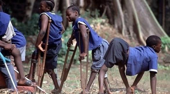 أطفال أفارقة مصابون بشلل الأطفال (أرشيف)
