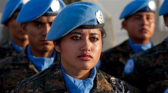 امرأة في قوات حفظ الأمن التابعة للأمم المتحدة (أرشيف)