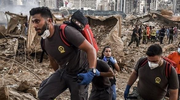 عمال إنقاذ يبحثون عن مفقودين بمرفأ بيروت (أرشيف)