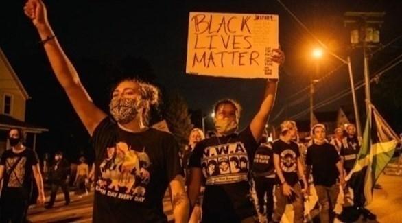 احتجاجات ضد العنصرية في كينوشا (أ ف ب)