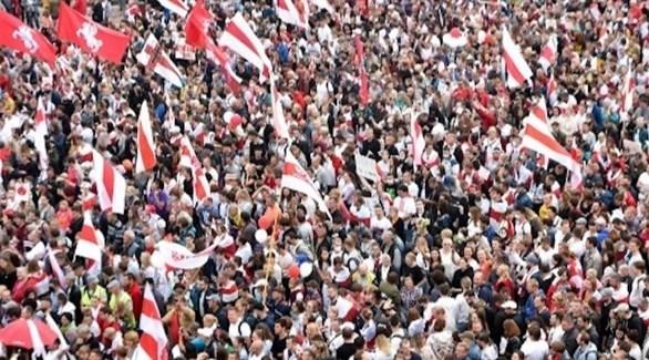 احتجاجات في بيلاروس (أ ف ب)