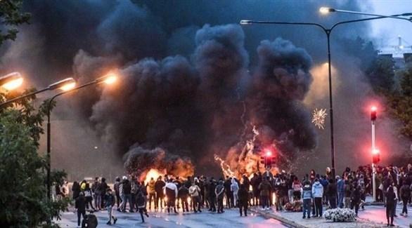 جانب من الاحتجاجات في مالمو السويدية (أرشيف)