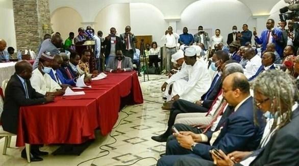 جانب من الاجتماع في جوبا  (تويتر)