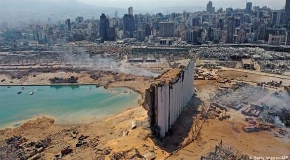 مرفأ بيروت المدمر (أرشيف)