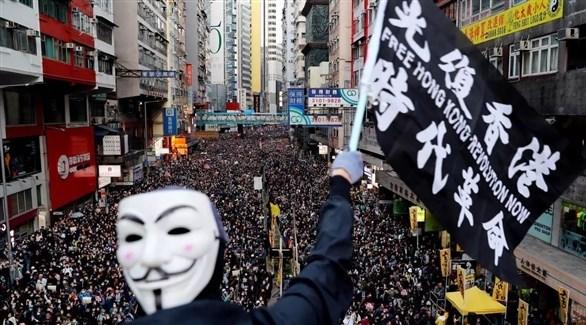 الحركة المطالبة بالديمقراطية بهونغ كونغ (أرشيف)