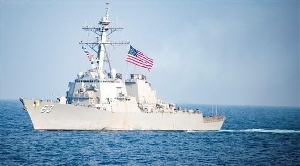 سفينة حربية أمريكية في مضيق تايوان (أرشيف)