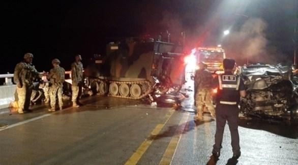 الشرطة الكورية الجنوبية وعناصر من الجيش الأمريكي في موقع الحادث (يونهاب)