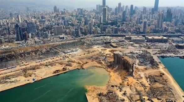 مرفأ بيروت بعد انفجار 4 أغسطس (أرشيف)