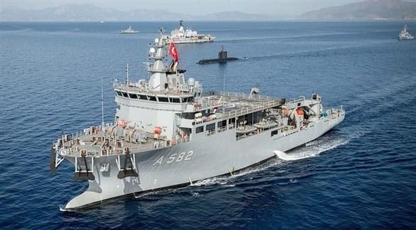 سفينة حربية تركية في المتوسط (أرشيف)