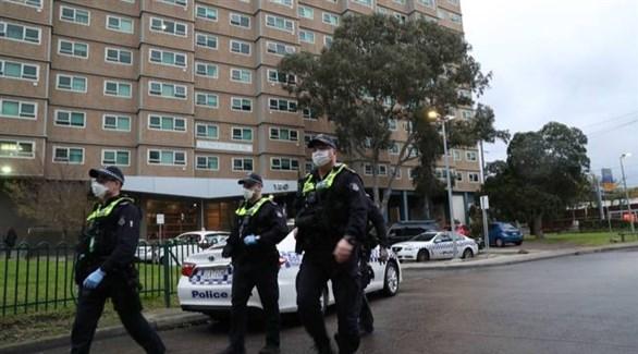 عناصر من الشرطة الأسترالية في ملبورن عاصمة ولاية فيكتوريا (أرشيف)