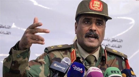 المتحدث باسم القائد العام للجيش الوطني الليبي، اللواء أحمد المسماري (أرشيف)