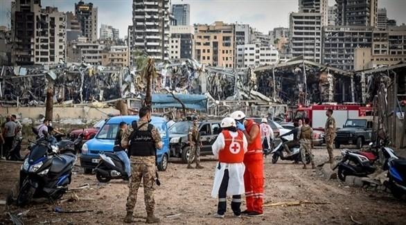 فرق إنقاذ تعمل في مرفأ بيروت (أرشيف)