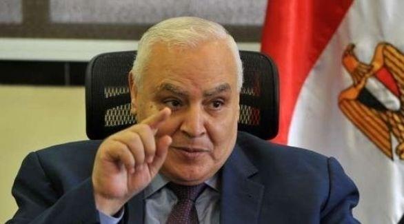 رئيس الهيئة الوطنية للانتخابات في مصر لاشين إبراهيم (أرشيف)