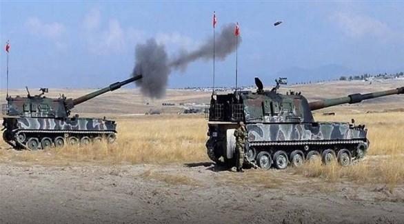 قصف مدفعي تركي (أرشيف)