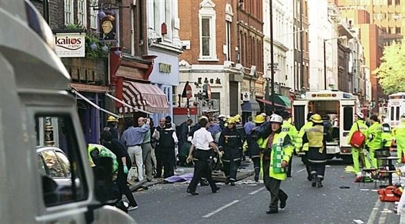 عناصر من الشرطة البريطانية في عملية أمنية سابقة بلندن (أرشيف)