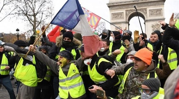 مظاهرة سابقة لأصحاب السترات الصفراء في باريس (أرشيف)
