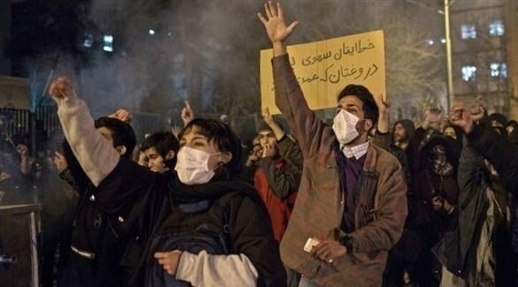 جانب من التظاهرات في طهران (أرشيف)