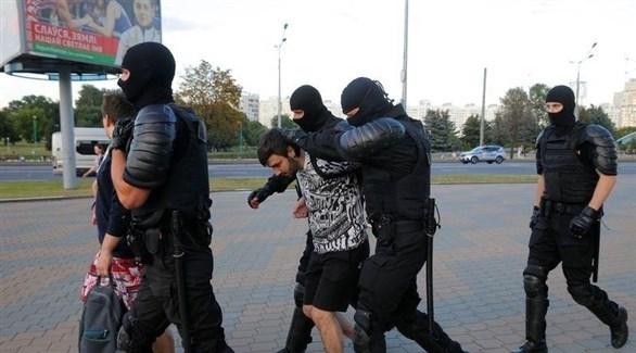 شرطة روسيا البيضاء تعتقل محتجين (أرشيف)