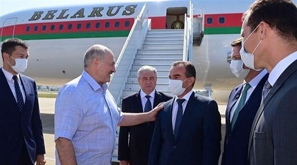 لوكاشينكو لدى وصوله إلى روسيا (أرشيف)