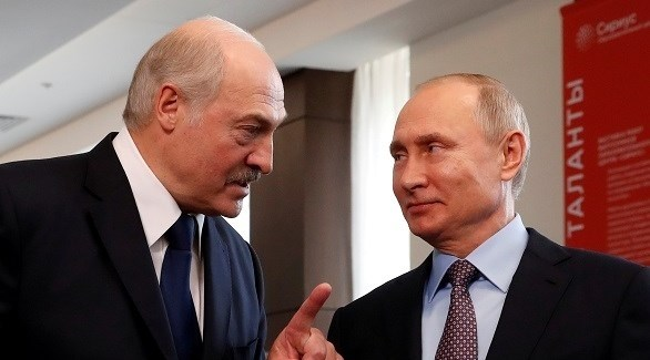 رئيسا روسيا فلاديمير بوتين وبيلاروسيا ألكسندر لوكاشينكو (أرشيف)