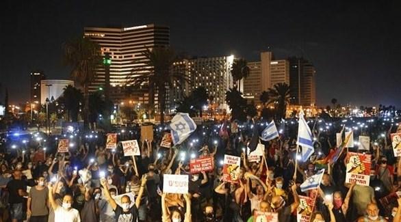 احتجاجات ضد قيود كورونا في إسرائيل (أرشيف)