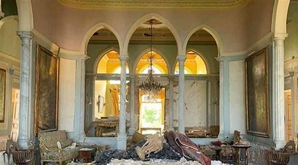جناح في متحف سرسق بعد انفجار بيروت (أرشيف)
