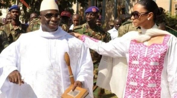 رئيس غامبيا السابق يحي جامع وزوجته زينب سوما المنفيان في غينيا الاستوائية (أ ف ب)