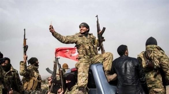 مرتزقة سوريون في صفوف ميليشيات أنقرة (أرشيف)