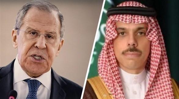 وزير الخارجية السعودي فيصل بن فرحان ونظيره الروسي سيرغي لافروف (أرشيف)