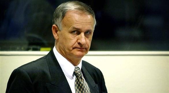 القائد العسكري السابق لصرب البوسنة راديسلاف كريستيتش أثناء محاكمته (أرشيف)