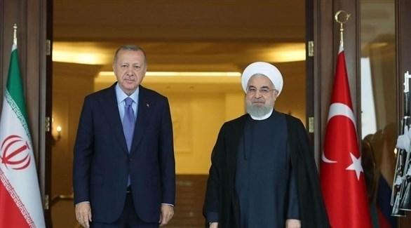 الرئيسان التركي رجب طيب أردوغان والإيراني حسن روحاني (أرشيف)