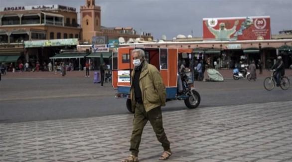 مغربي في ساحة جامع الفنا بمراكش (أرشيف)
