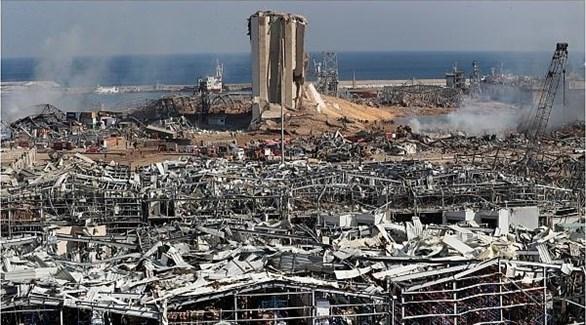 أنقاض ميناء بيروت بعد انفجار 4 أغسطس (أرشيف)