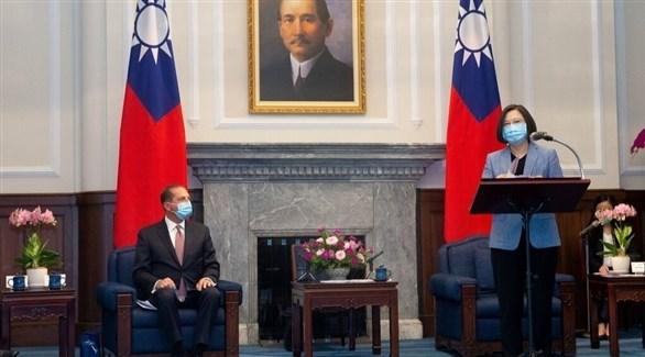 المسؤول الأمريكي خلال إحدى الجلسات في تايوان (وكالة تايوان المركزية)