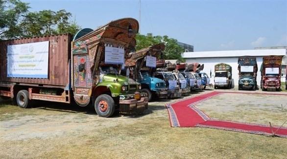 مركبات محملة بالمساعدات (واس)