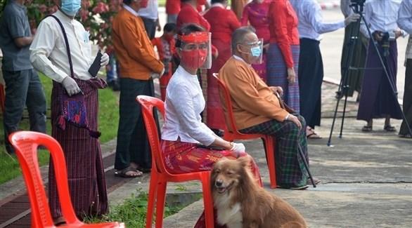 زعيمة ميانمار، أون سان سوتشي (أرشيف)